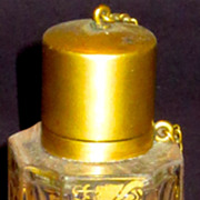 Signed Lobmeyr Small Scent or Perfume Bottle w/ Gilt Roses