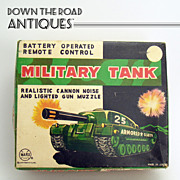 Marx Military Tank Battery Operated Toy - Mint in Box