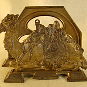 Cast Iron Camel Letter or Napkin Holder