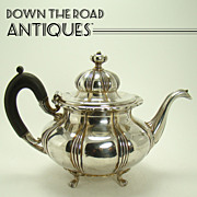 Signed Pairpoint Silver Plated Teapot with Fancy Ebony Handle