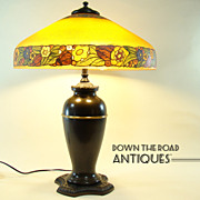 Pittsburgh Obverse Painted Floral Lamp - All Original