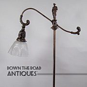 Iron and Brass Floor Lamp with Figural Woman Finial - 1920's