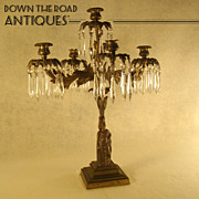 Large Bronze Gilded Figural Center Table Candelabra