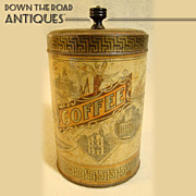 Coffee Tin with Historical Boston Landmarks c.1890