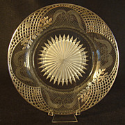 Sterling Overlay Cut Glass Charger