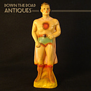 Superman Chalkware Carnival Figurine