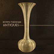 Steuben Art Glass Threaded Vase
