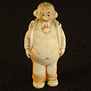 "Mr. Bailey Bisque Nodder Doll - German Bisque - ""Smitty"""