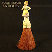 German Porcelain Gretel Whisk Broom - 1920's