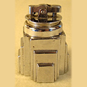 Ronson New Yorker Lighter in a Stepped Chrome Plated Base