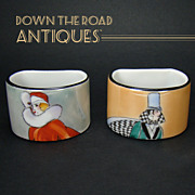 Art Deco Noritake Napkin Rings (Pair)
