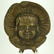 Solid Brass Change Dish -- Baby with Bonnet