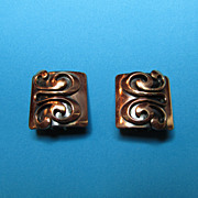 SALE Vintage 1950's Copper Earrings