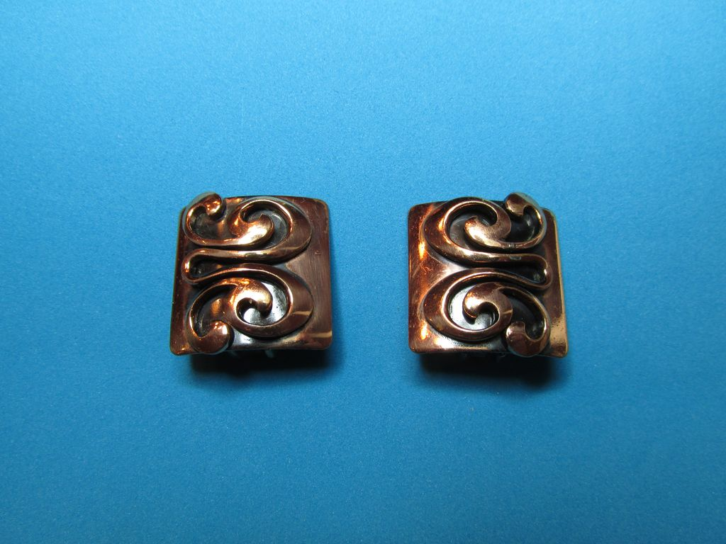 Vintage 1950's Copper Earrings