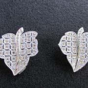 SALE Sparkling Clear Rhinestone Leaf Dress or Fur Clips