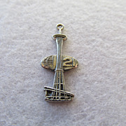SOLD Signed Seattle Space Needle World's Fair Charm / Pendant
