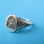 Signed McGrath Hamin Signet Sterling Ring