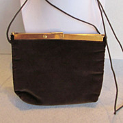 Harry Levine Brown Crushed Velvet Purse