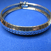 Signed Milor Sterling Made in Italy Flex Bracelet