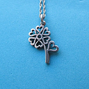 Vintage James Avery Sterling Flower Heart Pendant With Chain