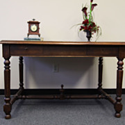 REDUCED Spindled Henry II Pantry Table Desk Antique French And Fabulous