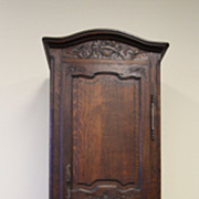 Floral Carved Bonnetiere Wardrobe Armoire Cabinet French Antique Louis XV