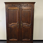Provencal Double Door Armoire Cabinet Bookcase Wardrobe Antique French Louis XV