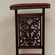 Beautiful French Victorian Antique Prie Dieu Prayer Chair Intricately Carved