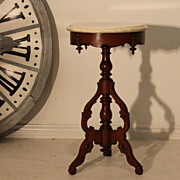 SALE Superb Antique Victorian Style Round Occasional Table with Marble Top