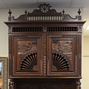 Extravagant Antique Late 1800's Intricately Carved French Brittany Buffet Lovely
