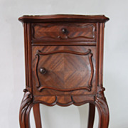 REDUCED Fine Louis XV Nightstand Antique French Lamp Table Fabulous Walnut Wood