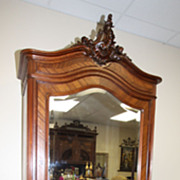 SOLD Crested Louis XV Armoire Single Door Antique French And Fabulous