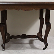 REDUCED Magnificent Antique Louis XV Dining Table Two Leaves drop down extension legs