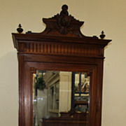 REDUCED Spectacular Antique Louis XVI Neoclassical Mirrored Armoire Intricately Carved