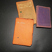 Miniature Leather Books Shelley  Dickens