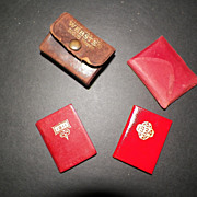 SOLD Miniature Stamp Books and Dictionary Sesqui- Centennial Phila.