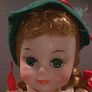 Madame Alexander Swiss Doll. Hard To Find  With Smiling Maggie Face