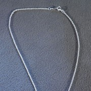SALE Vintage Sterling Silver Floating Heart Pendant Charm and Necklace
