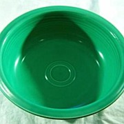 "SALE Vintage Bold Green Rimmed Large  9 1/2""  Bowl Mint"