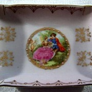 SALE Vintage  Trinket Dresser Dish Detailed Fancy Moriage