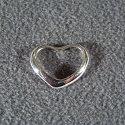 SALE Vintage Sterling Silver  Classic Floating Heart Pendant Charm