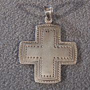 SALE Vintage Sterling Silver Big Bold Cross, A Magnificent Piece!~~