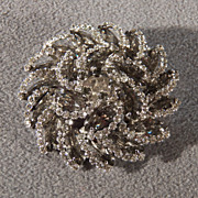 SALE Vintage  Silver Tone Multi round Marquise  Bold Layered Round Fancy  Pin Brooch