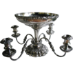 Antique Epergne Ellis Barker Silverplate Holloware