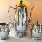 Carafe Set Chrome Stainless Steel Bakelite