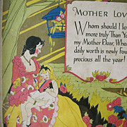 Mother Poem Art Deco Colorful