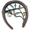 Brooch Horseshoe Enamel 1920s