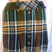 Skirt Plaid Green Junior House Wool