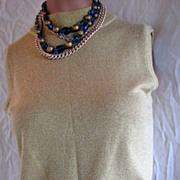 Vintage Sweater Gold Sparkly Top