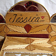 Box Art Toothpicks Wood Outsider Art Jessica